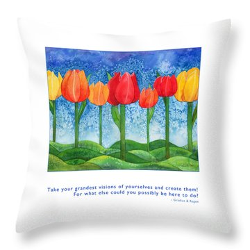 Throw Pillow featuring the painting Grandest Visions by Kristen Fox