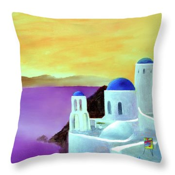 Grandeur Of Greece Throw Pillow