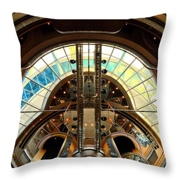 Grandeur Of The Seas Gold Centrum Throw Pillow