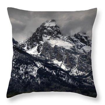 Grandeur Of The Tetons Throw Pillow