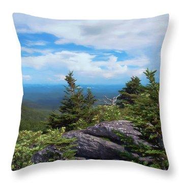 Grandfather Mountain Throw Pillow