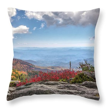 Grandfather Mountain Panorama 02 Throw Pillow