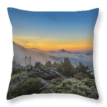 Grandfather Mountain Sunrise Throw Pillow