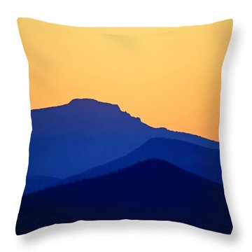 Grandfather Sunset Throw Pillow by Dale R Carlson