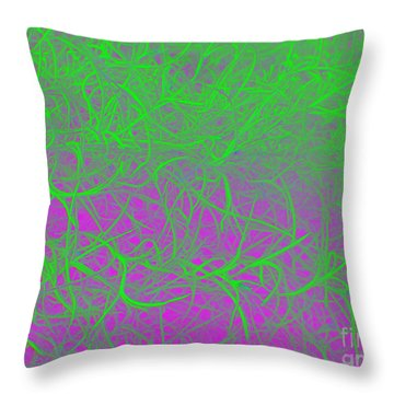 Throw Pillow featuring the photograph Grandfather's Beard - Punked by Linda Hollis