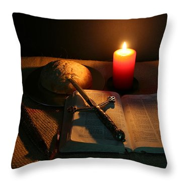 Grandfathers Bible Throw Pillow