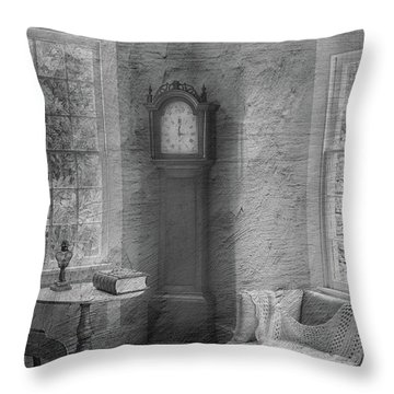 Grandfather's Clock Throw Pillow
