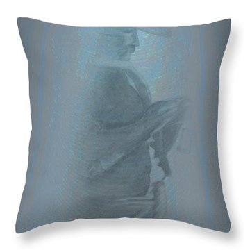 Grandfather's Ghost Throw Pillow
