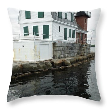 Grandfathers Lighthouse Throw Pillow