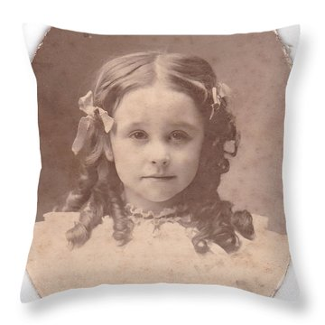 Grandma As A Young Girl Throw Pillow