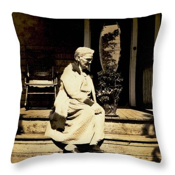 Throw Pillow featuring the photograph Grandma Jennie by Paul W Faust - Impressions of Light