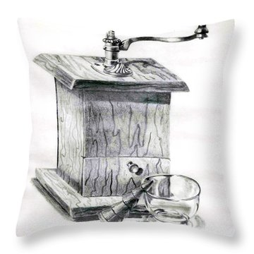Grandma's Coffee Grinder Throw Pillow