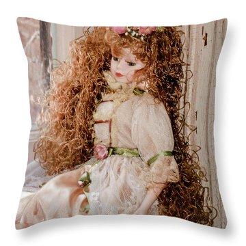Grandma's Doll Throw Pillow