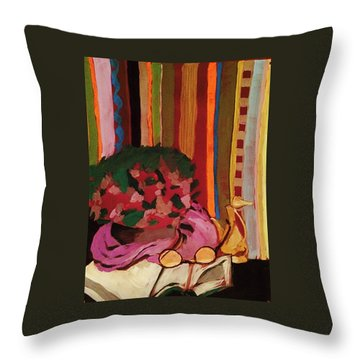 Grandma's Glasses Throw Pillow by Manuela Constantin