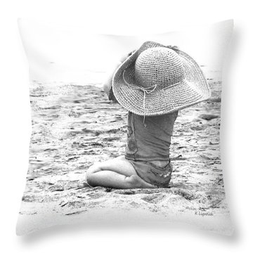 Throw Pillow featuring the photograph Grandma's Hat by Kerri Ligatich