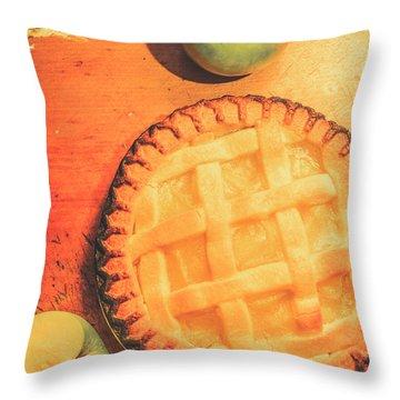 Grandmas Homemade Apple Tart Throw Pillow