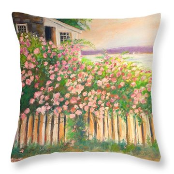 Grandmas Lake House Throw Pillow