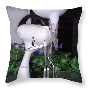 Throw Pillow featuring the photograph Grandma's Old Mixer by Beauty For God