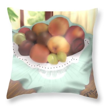 Grandma's Table Throw Pillow