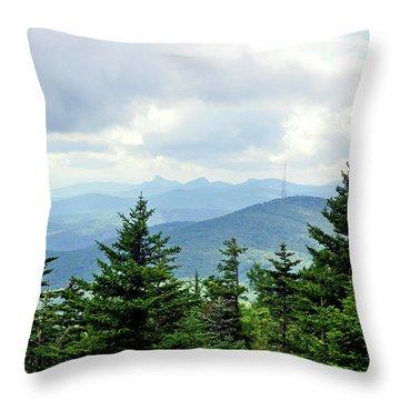 Grandmother Mountain Throw Pillow