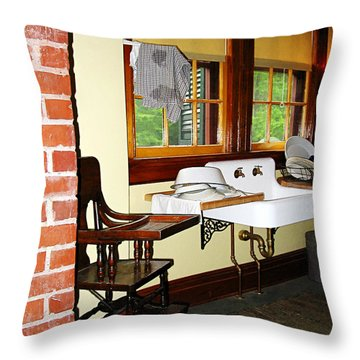 Grandmother's Kitchen Throw Pillow by Susan Savad