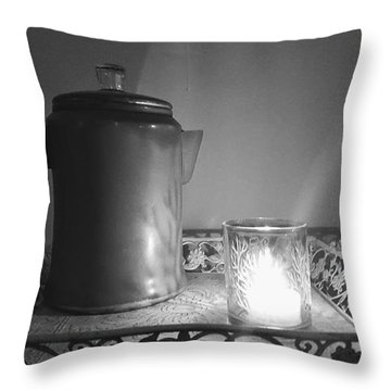 Grandmothers Vintage Coffee Pot Throw Pillow
