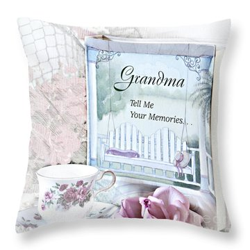 Grandmother...tell Me Your Memories Throw Pillow