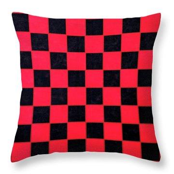 Throw Pillow featuring the photograph Grandpa's Checkerboard by Jeff Phillippi