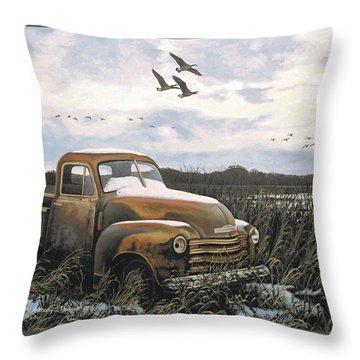 Grandpa's Old Truck Throw Pillow
