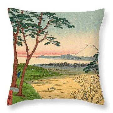 Grandpa's Teahouse, Meguro Throw Pillow
