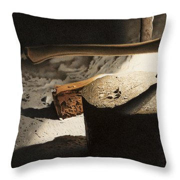 Grandpa's Woodshed Throw Pillow by Doug Comeau