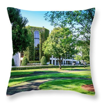 Grandstand At Keeneland Ky Throw Pillow