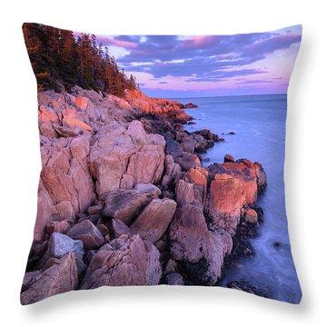 Granite Coastline Throw Pillow