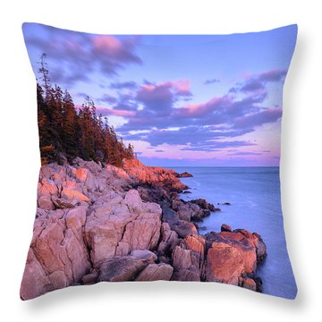 Granite Coastline Throw Pillow