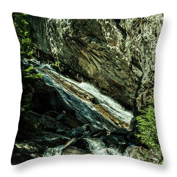 Granite Falls Of Ancient Cedars Throw Pillow