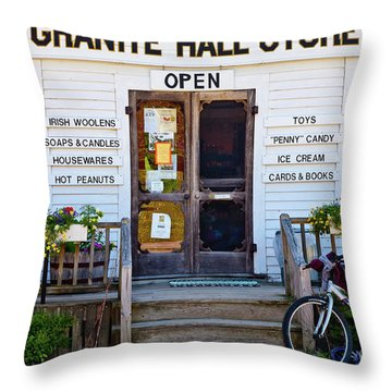 Granite Hall Store  Throw Pillow by Susan Cole Kelly