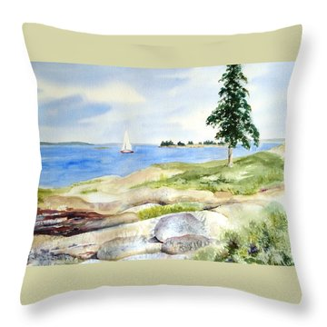 Granite Ledges II Throw Pillow