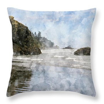 Granite Stacks Olympic Park Throw Pillow by Peter J Sucy