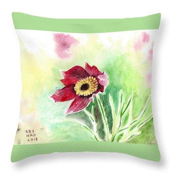 Granny Flower 2 Throw Pillow