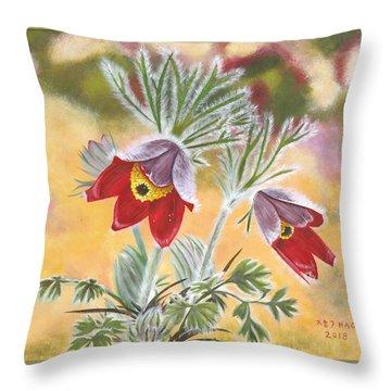 Granny Flowers Throw Pillow