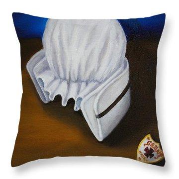 Grant Hospital School Of Nursing Throw Pillow by Marlyn Boyd