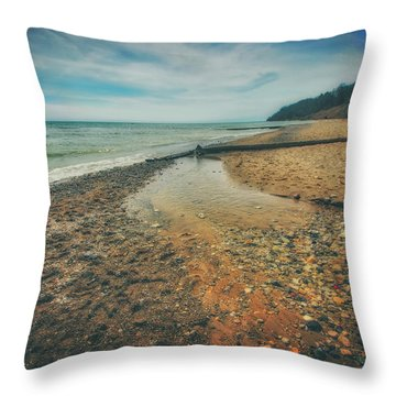 Throw Pillow featuring the photograph Grant Park - Lake Michigan Beach by Jennifer Rondinelli Reilly - Fine Art Photography