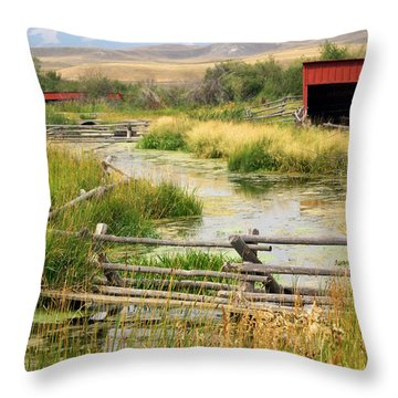 Grants Khors Ranch Vertical Throw Pillow by Marty Koch