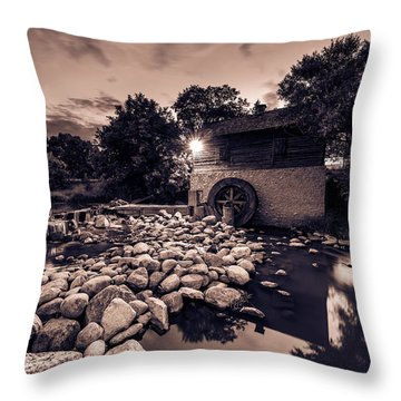 Grant's Old Mill Throw Pillow