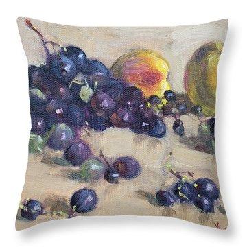 Grape And Peach Throw Pillow