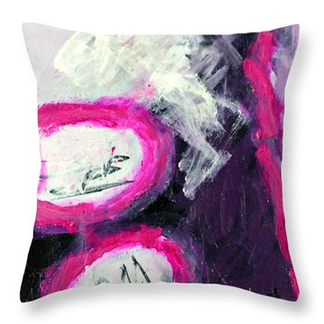 Grape Fizzies Throw Pillow by Shelley Graham Turner