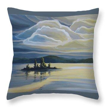 Grape Island Throw Pillow