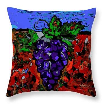 Grape Jazz Digital Throw Pillow