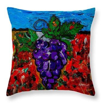 Grape Jazz Throw Pillow