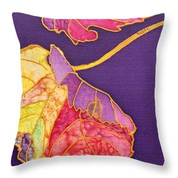 Grape Leaves Throw Pillow